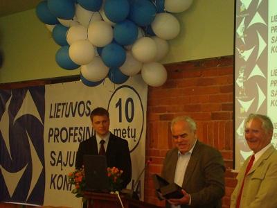 Lietuvos profesinių sąjungų konfederacijos 10-mečio minėjimas